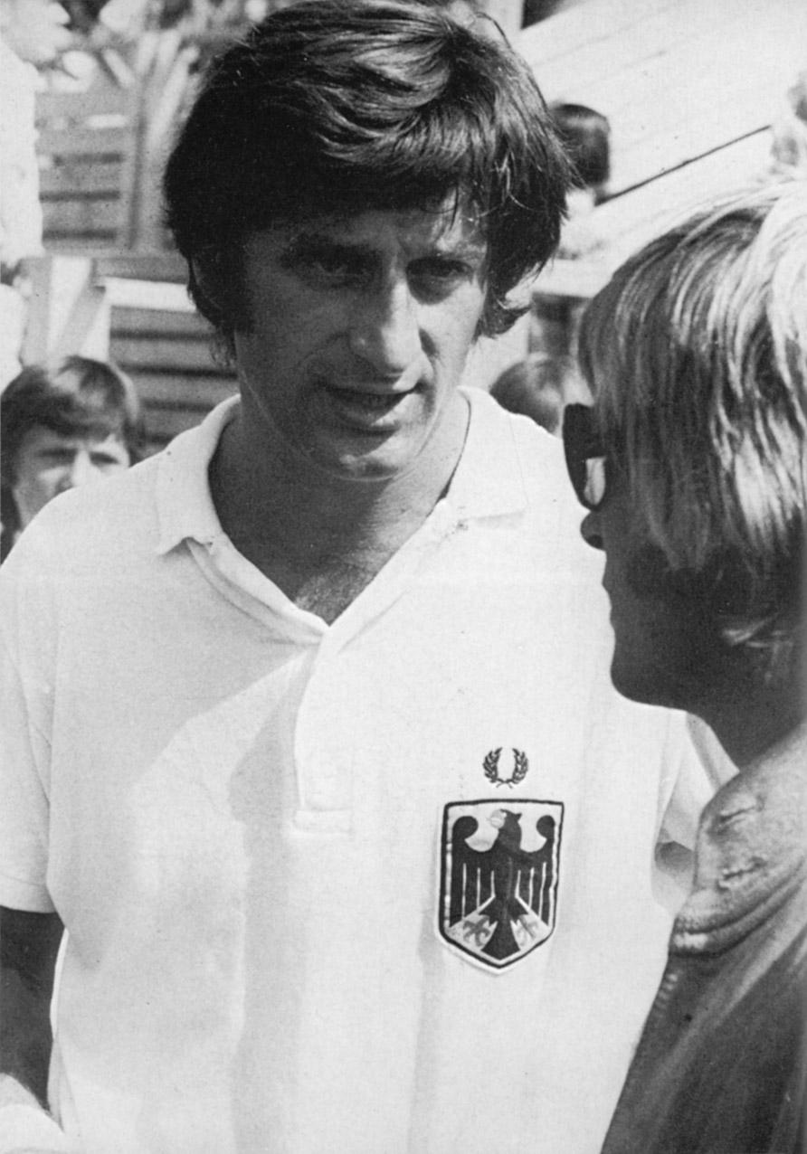 Michael Krause, Vorsitzender des Präsidiums, bei den Olympischen Spielen 1972 in München. Er schoss im Hockey-Finale das entscheidende Tor gegen Pakistan.