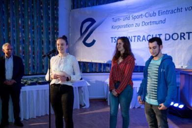 Die Vereinsjugendleitung ehrte alle Mitglieder unter 26 Jahren, die 2019 seit 10 Jahren im Verein angemeldet waren.