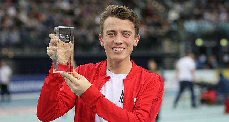 """Elias Schreml als Deutschlands """"Jugend-Leichtathlet des Jahres"""" ausgezeichnet"""