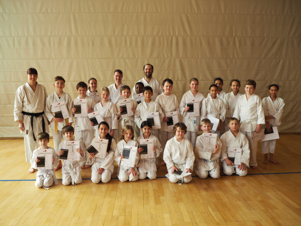 Karate: Prüfung bestanden