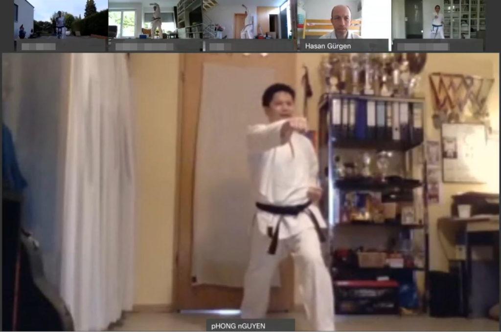 Karate-Abteilung des TSC Eintracht trainiert online