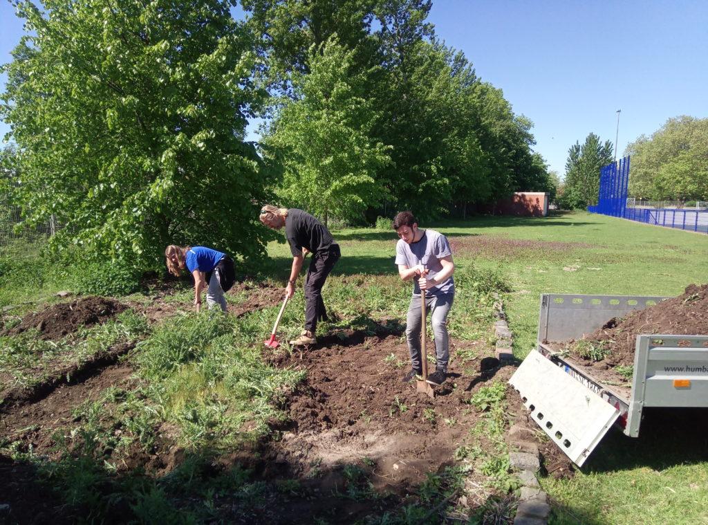 Der TSC Gartentreff findet jeden Montag von 17:30 - 19:30 Uhr statt und freut sich über jede helfende Hand beim Pflanzen, Werkeln, Bauen und der Planung und Umsetzung von neuen Ideen.