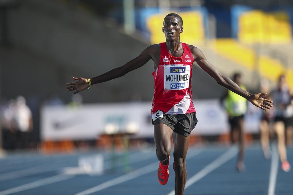Eintrachtler Mohamed Mohumed ist Deutschlands schnellster Mann über die 5000 Meter. Foto: BEAUTIFUL SPORTS/Axel Kohring