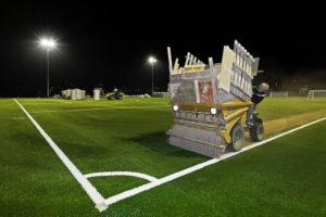2012 ersetzte Kunstrasen die staubige Asche auf den Fußballplätzen des TSC Eintracht Dortmund. Foto: Olaf Heil