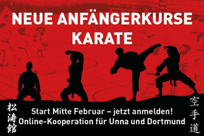 Drei Vereine begeistern gemeinsam online für Karate