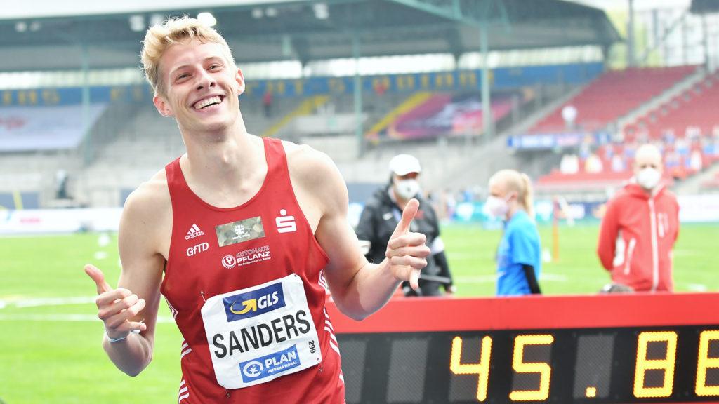Manuel Sanders holte sich den Deutschen Meister Titel über die 400 Meter. Foto: Iris Hensel